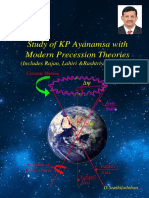 Study of KP Ayanamsa with modern precession theories