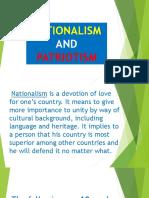 Nationalism and Patriotism