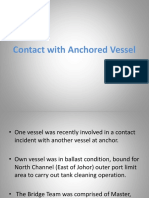 Contact With Anchored Vessel