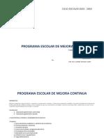 PROGRAMA ESCOLAR DE MEJORA CONTINUA