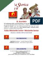 Bando e Modalita' Iscrizioni Schìe Maciarele j. s. -Regata Storica 2019