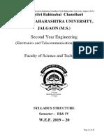 2019-20 S.E. Electronics and Telecommunication Engineering