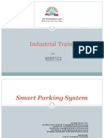 Industrial Training on Iot Smart Parking System