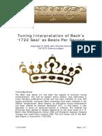 1722 bach seal - tuning interpretation