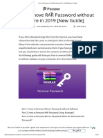 How to Remove WinRAR Password in 2019 [New Guide]