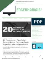 Engenhamais! 20 Ferramentas Estatísticas Escondidas No Excel –