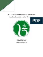 Criminal Law - DLSU 2019