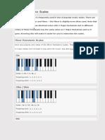 Piano Pentatonic Scales - Major and Minor