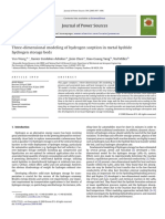 2009 Three-dimensional Modeling of Hydrogen Sorption in Metal Hydride