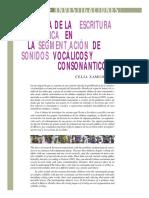 Influencia de la escritura alfabética en la segmentación DE SONIDOS.