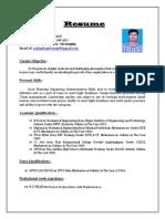 Rashmikant Swain Latest Resume