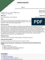 Arrington Subdivision Proffer Change Request August 2019