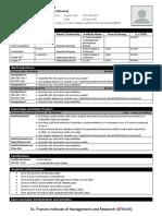 Resume Format - SFIMAR