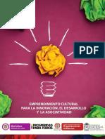 Cartilla Emprendimiento Cultural Para La Innovacion Desarrollo Asociatividad MinCultura 2013 Convertido