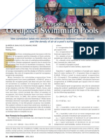 Occupied Swimming pool