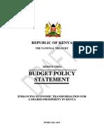 budet policy statement