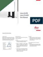 Microscope manual Leica Z16 APO