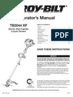 TB2044XP Manual