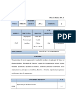 Plano de Ensino L C J Turma 2º P FAC Turma AB