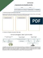 Guía Organización de La República de Chile
