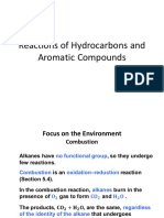 Finals Part 1 Reactions of Hydrocarbons and Aromatic Compounds