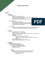CARDIOVASCULAR SYSTEM (Anatomy & Physiology)