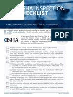 OSHA Inspection Checklist