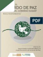 Informe Seguimiento Multipartidista a la Implementación del Acuerdo de Paz