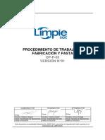 Procedimiento de Trabajo en Fabricación y Pasta (Rev.2)