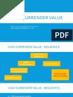 Cash Surrender Value