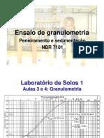 Granulometria do solo