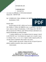 Joelio Nepomuceno Notificacao Extrajudicial Entrega Terreno Brasileirinho