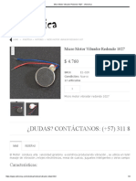 Micro Motor Vibrador Redondo 1027 - Vistronica