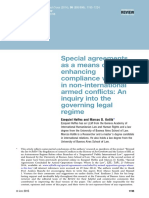 Special agreements as a means of enhancing compliance with IHL in non-international armed conflicts