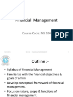 L1. Introduction to Financial Management Scope, Objectives