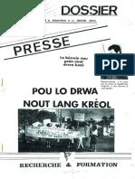 Dossier du CDPS, Pou la drwa nout lang kréol, Novembre 1990
