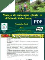 Manejo de Suelo y Agua en El Palto en Valles Intrandinos 2014
