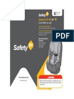 User Guide - Safety 1st Advance EX 65 Air Convertible Car Seat - Item No CC164 (1)
