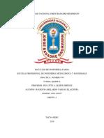 Informe de Laboratorio (Exactitud y Precisión en Química)
