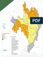 La carte des bassins versant concernés par les restrictions d'eau