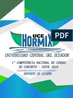 Hormix Uce - Reporte de Diseño