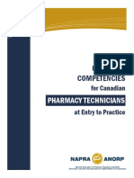 Professional Competencies for Canadian Pharmacy Technicians at Entry to Practice