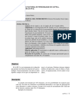 16 PF-5 (Cuestionario Factorial Personalidad Cattell)