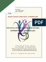 INFANCIA E INTERVENCIÓN COMUNITARIA EXPERIENCIAS Y APRENDIZAJES  DESDE EL SUR