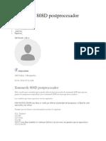 Sinumerik 808D postprocesador