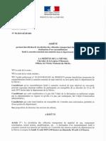 Arrete Interdisant le transport de matériel de son dans la Nièvre du 12 au 18 août 2019