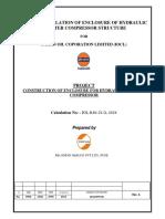 Design Calculations _ Booster Compressor Canopy