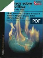 Deleuze, Foucault et. al. - Ensayos sobre biopolítica. Excesos de vida.pdf