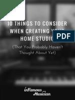 10 Studio Considerations