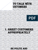 How to Talk With Customers